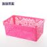 当当优品 欧式时尚雕花桌面塑料收纳筐3个装 大号 粉色