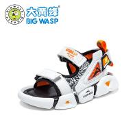 【1件5折�r:119元】大�S蜂童鞋 男童�鲂�夏季�底�和�鞋子2020新款中小童�r尚沙�┬�