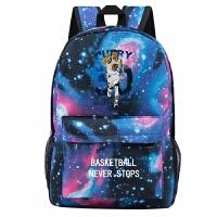 新款金州勇士斯蒂芬库里夜光双肩包初中学生背包休闲学院球星书包