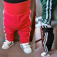 婴儿秋装女童裤子男宝宝加绒加厚打底裤1岁3个月新生儿长裤秋冬装