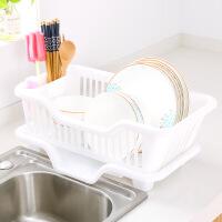 厨房塑料沥水篮碗盘碗架筷碟餐具收纳盒储物洗菜滴水置物架角架