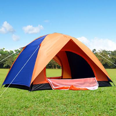 野外手动家庭2人自驾游露营野营单人二室搭建双人帐篷户外3-4人