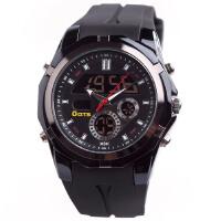奥迪斯 韩国时尚潮 树脂双机芯防水 多功能LED运动电子表男士手表T8113