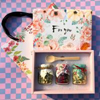 【包邮】花茶礼盒 玻璃瓶装玫瑰花茉莉花婚礼伴手礼小礼品新年节日礼物