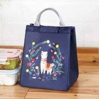 带饭的饭盒袋子铝箔加厚帆布女手提保温袋防水防油午餐便当包