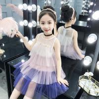 女童夏季蛋糕裙连衣裙儿童仙女裙中童大童小女孩子网纱公主裙