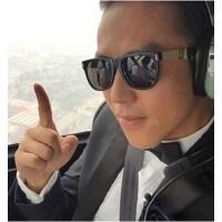 明星款时尚太阳眼镜 炫彩金属腿墨镜6030 男士眼镜复古太阳镜