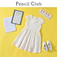 【2折价:67.8】铅笔俱乐部童装2020夏装新款女童短袖连衣裙中大童公主裙儿童裙子