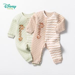 迪士尼Disney童装婴儿衣服秋冬新款三层暖棉卡通尼莫连体衣男女童无骨家居内衣爬服184L774