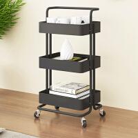 厨房置物架菜架浴室落地多层收纳架客厅可移动书架带轮零食小推车