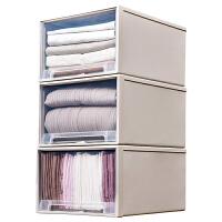 抽屉式收纳箱塑料透明衣柜收纳盒衣物整理箱衣服储物箱收纳柜柜子kb6