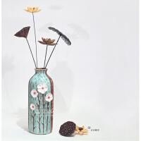 陶瓷田园风水培植物艺术花瓶干花富贵竹客厅家居装饰摆件