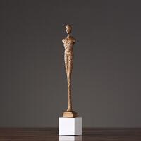 客厅欧式摆件 家居装饰品摆设 新古典现代创意工艺品 铜人物摆件