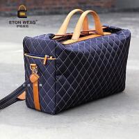 潮流 韩版潮流时尚旅行包大容量男士手提斜跨男包女包大包行李包