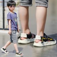 男童凉鞋2019新款韩版学生夏季真皮儿童休闲防滑中大童男孩沙滩鞋潮