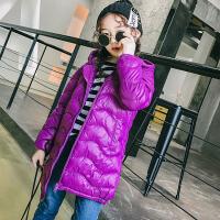 女童棉衣2017冬季新款韩版童装儿童羽绒服棉服外套中大童中长款棉衣外套  GD长款轻薄款