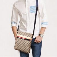 包包2018新款男包单肩包斜挎包男士商务休闲竖款挎包韩版时尚潮包