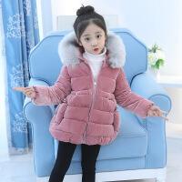女童棉衣冬装2018新款时尚中小童宝宝加厚小女孩外套上衣棉袄