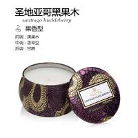 手工香薰蜡烛小铁罐无烟椰子油精油睡眠香氛礼盒美国进口