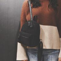双肩包女韩版学生小背包简约百搭迷你文艺复古灯芯绒条绒包包