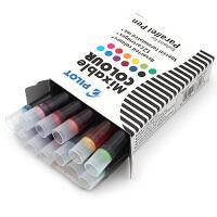日本百乐平行钢笔专用彩色墨胆墨水囊12色套装文具办公用品