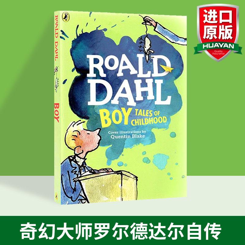 华研原版 罗尔德达尔 英文原版 Boy Tales of Childhood 男孩 童年故事 Roald Dahl 全英文版进口英语书籍正版现货 奇幻大师罗尔德达尔自传