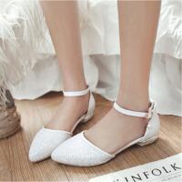 儿童凉鞋夏季女童韩版中大童9-11-13-15岁公主高跟舞蹈鞋