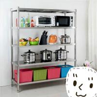 定做厨房不锈钢置物架五层储物架子收纳整理厨房用加厚可调节货架