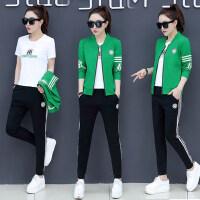 韩版卫衣三件套潮时尚跑步修身显瘦休闲运动套装女