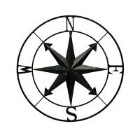 简约指南针室外挂式装饰品创意金属挂件家居装饰品