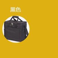 折叠保温箱外卖送餐手提小号保温冰包冷藏箱加厚野餐包便携多功能 黑色 21升+底板