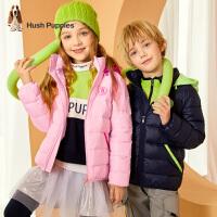 【秒�⑷�后�r:239元】暇步士童�b�和��p薄羽�q服2020冬�b新款男女童洋�馍弦����外套潮