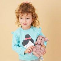 【每满100减50】moomoo童装女宝宝卡通卫衣1-3岁女幼童新款针织长袖花边上衣