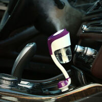 汽车香水香薰车载加湿器喷雾精油直插汽车双USB点烟器空气净化 精油海洋5ML+ 主机(主机留言说明颜色)