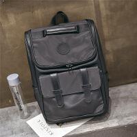 背包双肩包男时尚潮流旅行包新款大容量学生休闲书包韩版电脑包潮 黑色款1 1003