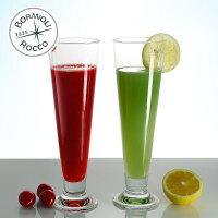 Bormioli Rocco 意大利原装进口无铅玻璃 Palladio 帕拉帝玻璃啤酒杯 果汁杯 鸡尾酒杯 3种容量 2只装
