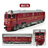 火车模型内燃机车仿真火车头声光回力车升辉儿童玩具车合金车模