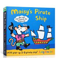 【全店300减100】英文原版 Maisy's Pirate Ship 小鼠波波海盗船儿童立体操作书 儿童英语启蒙绘本
