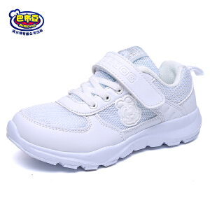 巴布豆童鞋 2018年春秋新款小白鞋男女童运动鞋透气耐磨休闲鞋
