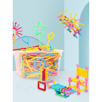 儿童聪明魔术棒男孩女孩早教启蒙积木塑料益智力开发拼装拼插玩具