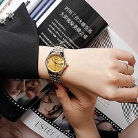 正品古尊手表女金盘机械表精钢情侣表防水男表时尚潮流手表6137ML