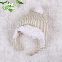 婴儿帽子童帽儿童新生儿女童0-3个月胎帽宝宝男孩潮加绒秋冬 (年龄是参考,按照头围购买)