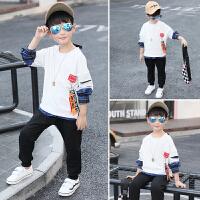 童装男童新款套装中大童运动儿童卫衣春秋潮衣两件套