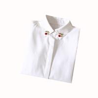 白色衬衣女2018新款秋冬长袖打底上衣韩范学生加绒宽松休闲衬衫潮 加绒