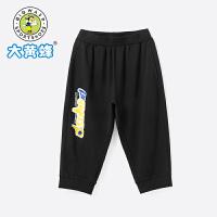 【2件3折价:55.2元】大黄蜂童装 男童七分裤儿童运动裤2020夏季新款小孩校园韩版短裤