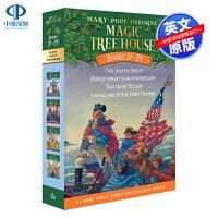 英文原版 神奇树屋21-24合集4册 Magic Tree House Volumes 21-24 套装 美国中小学生课