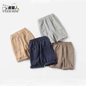 小虎宝儿童装男童短裤2018夏装新款纯棉五分裤中大童运动裤