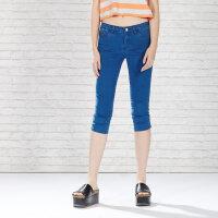 【618狂欢购,领券满500减300】美特斯邦威牛仔裤女夏装新款基本款中裤255629商场同款