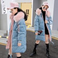 女童棉衣2018新款韩版中大童女孩12-15岁冬装中长款洋气棉袄