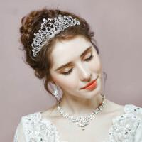 新娘发饰结婚三件套皇冠头饰镶钻项链耳钉套装饰品